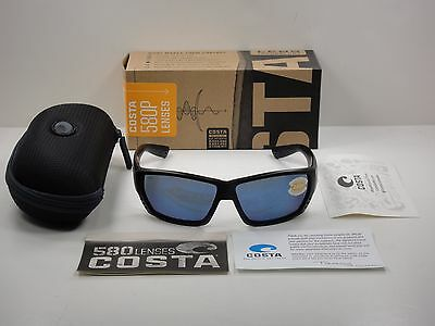c89e7fa7b64 Costa Del Mar Tuna Alley Polarized Sunglasses Ta01 Obmp Blackout blue 580P  Lens