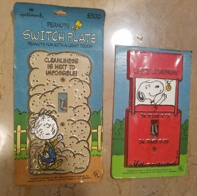 Vintage 1960's SNOOPY Peanuts PIG PEN Light Switch Cover Plate NIP