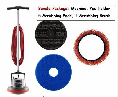 Oreck 550MC Orbiter Multi-Purpose Floor Machine Plus Pads Holder and Scrub Brush