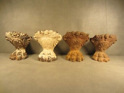 Antique Victorian CAST IRON LION PAW CLAW FOOT TUB FEET ALL 4 SET