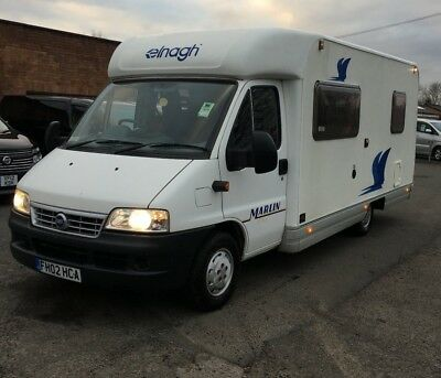 2002 fiat ducato elnagh marlin slim 3 4 berth fixed bed. Black Bedroom Furniture Sets. Home Design Ideas