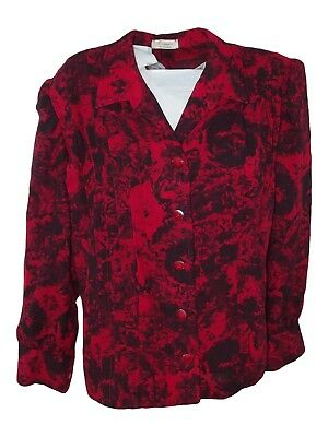 rosamaria piacenza giacca donna rosso vintage made italy taglia xl extra large