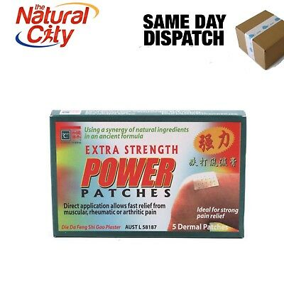 Cathay Herbal Ext Strength Power Patches x 25 Dermal Patches