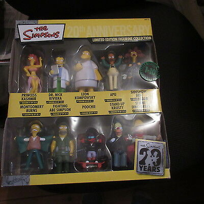 simpsons boxed 20 year anniversary collectable figurines including krusty clown