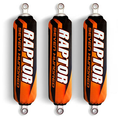 Orange Black Shock Covers Yamaha Raptor YFM 700 700R (Limited Edition)