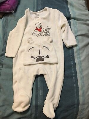 Baby Fleece Sleepsuit & Hat! Age 3-6 Months! New No Tags!
