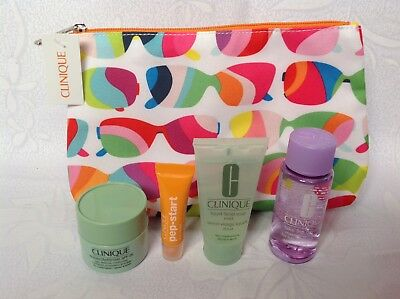 Clinique Cosmetics / Makeup Bag with 4 Mini Products