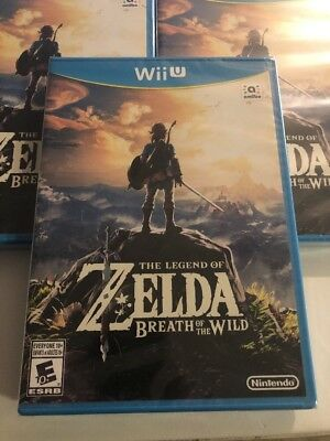 The Legend of Zelda Breath of the Wild (Nintendo Wii U, 2016) Sealed Fast Ship