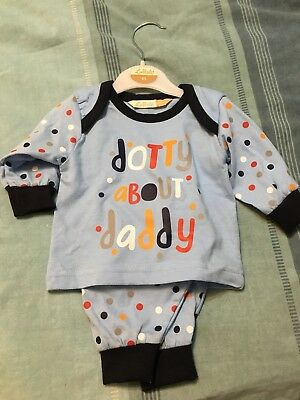 Lullaby Baby Boys I Love My Mummy or Daddy Long Sleeve Cotton Pyjamas 0-9mths