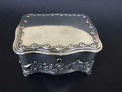 Antique Art Nouveau Wilcox Silver Plate Trinket- Jewellery Box Made In USA C1890