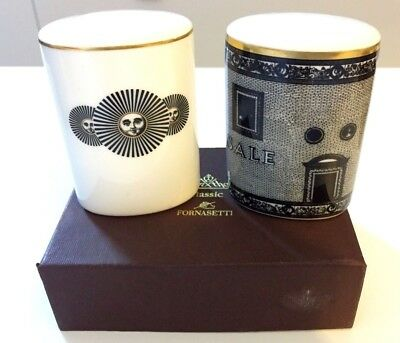 Unused, boxed, original Rosenthal Classic Fornasetti salt and pepper shakers