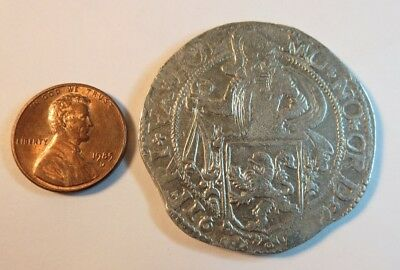 1603 Netherlands Silver Coin Daalder Stuivers Lion Dutch Colonial Rare Dollar