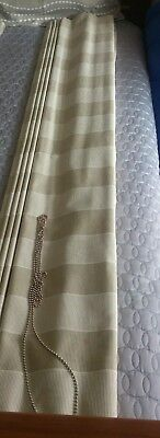 Custom Roman Blind Fawn Cream Chain New Never Used Curtains Drapes 1820X1660