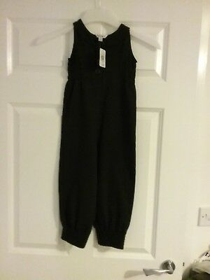 Girls mads and mette black all in one jumpsuit age 3 - 4 104cm new with tag