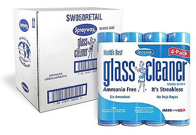 12 Pk Sprayway Glass Cleaner 19 oz Clean Fresh Fragrance Heavy Duty Cleaning