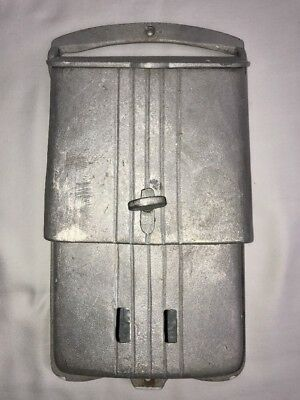 Vintage Cast Aluminum Mail Box Art Deco Style Door/Wall Mount Letter Slot