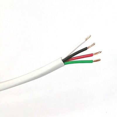 25' 4 Conductor 22 Gauge Unshielded Cable, CMR Rated 25 Foot 4C 22AWG U2204