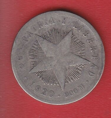 World Coin 20 Cents 1920 Silver