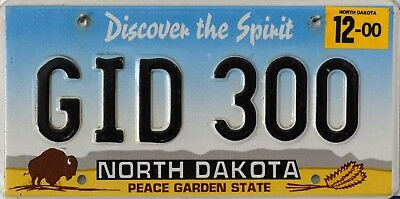 """USA Number Licence Plate NORTH DAKOTA """"DISCOVER THE SPIRIT"""" PEACE GARDEN STATE"""