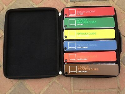 Pantone Set of 6 Formula Color Guides with Travel Case