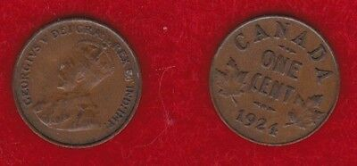 Canada 1 Cent 1924  Free Shipping