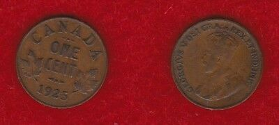 Canada 1 Cent 1925  Free Shipping