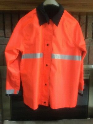 Reversible Mens M  40-42 BLAUER GORE TEX RAINCOAT Orange Black