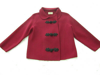 WOW! Vintage Marchesa di Grésy - I.Magnin & Co - 1960s Red Wool Jacket - Italy