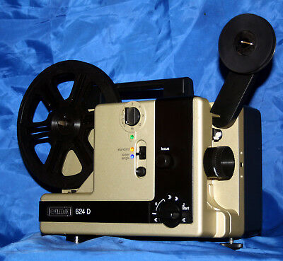 PROJECTOR HEAVEN   EUMIG 624D  DUAL 8mm SILENT MOVIE PROJECTOR, SERVICED A1