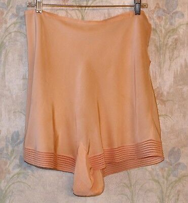 Vintage Peach Rayon Tap Pants Panties French Knickers