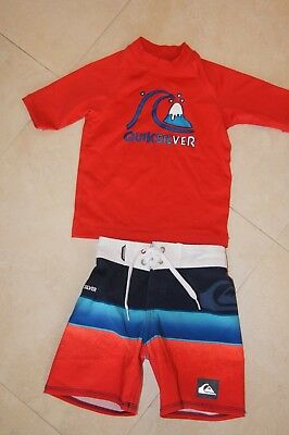 Quiksilver Set Boy's Shorts Swim Shirt 2T 3T VGUC July 4th Memorial Day