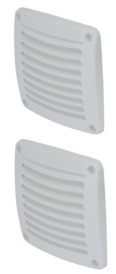 Caravan Air Vents x 2 Boat Air Vent Wall Eave Air vents x 2 White NEW House Vent