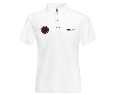 Polo SPARCO Performance blanc pour homme - Sportswear