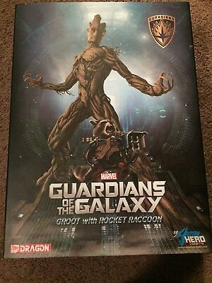 Guardians Of The Galaxy Rocket And Groot Statue 1:9 Dragon Model Figurine Kit