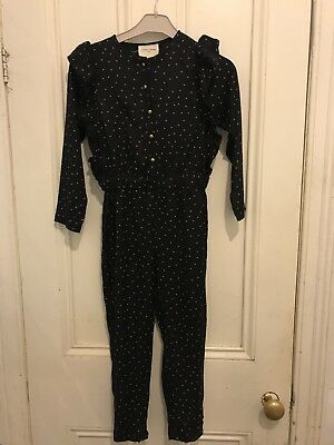 Gorgeous Girls Louis Louise Jumpsuit Size 8 Black With Gold Dots BNWT