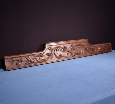 "*50"" French Antique Pediment/Crest in Chestnut Wood Salvage"