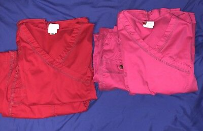 Dickies Gen Flex Youtility Scrub Top and Pant Lot Two Sets Size Large