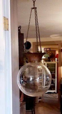 1890 Victorian Traffic Enhancer Hanging Glass Ball Colored Water Store Display