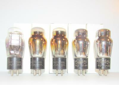 5 National Union 01A ST radio amplifier tubes. TV-7 test @ NOS specs.