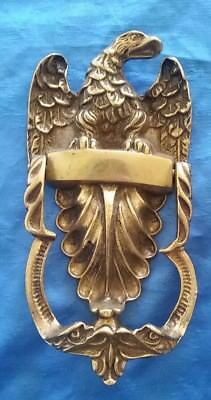 Vintage Brass Door Knocker AMERICAN EAGLE Wings England Antique
