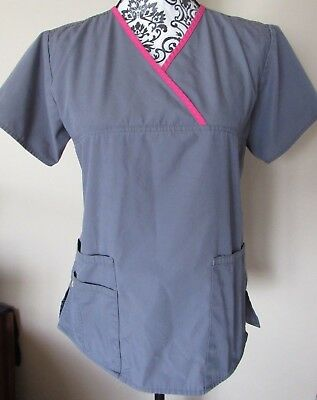 Women's WonderWink gray 2pc. scrub set, Top - Small, Pants - X-Small