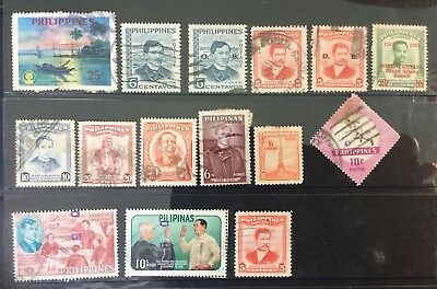 PHILIPPINES-Small Lot Of Old Stamps