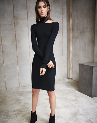 fc1218c4db NWT  520 HELMUT Lang Tieback Long-Sleeve Fitted Sweater Dress Size M ...
