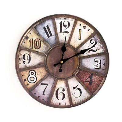 Round Vintage Wall Clock French Country Tuscan Style Paris 7