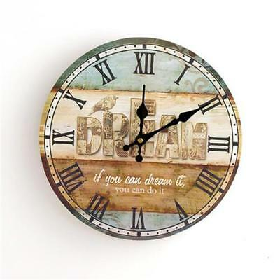 Round Vintage Wall Clock French Country Tuscan Style Paris 5