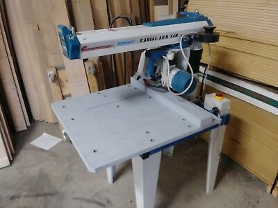 """OMGA Radial Arm Saw RN450 - 12"""" Blade, SCMI 3 Ph. - Great Condition, Very Clean"""