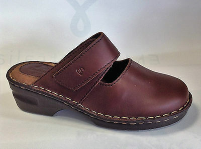 Clogs Ladies Leather Comfort Saramanda Work Clearance