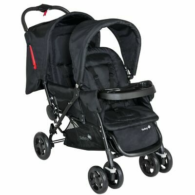 Safety 1st Tandem Baby Toddler Stroller Pushchair Buggy Duodeal Black 11487640