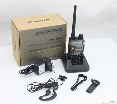 Radio CTCSS Walkie-Talkie Hand-funkgerät Baofeng UV-5R 2m/70cm Plus Amateurfunk