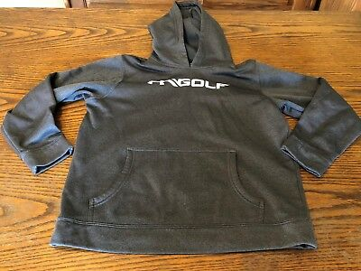 gray UNDER ARMOUR GOLF sweatshirt hoodie youth size large